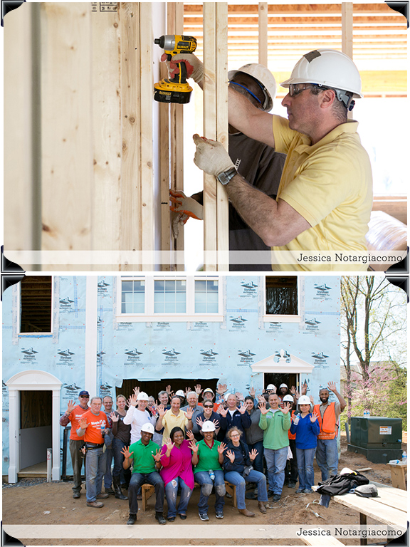 Scott Samborn volunteers for Habitat for Humanity