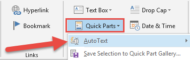 AutoText in Outlook