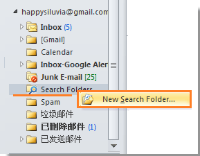 New Search Folder in Outlook